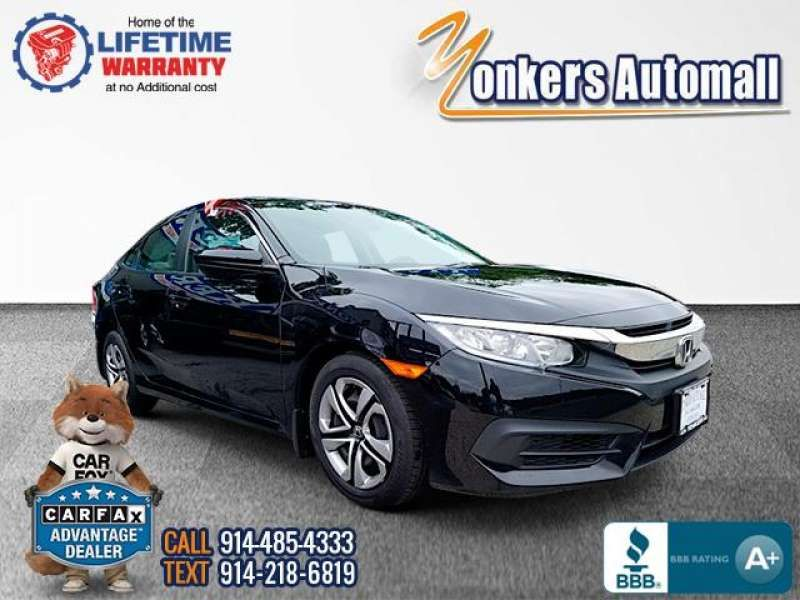 Used/Pre-owned 2016 HONDA CIVIC SEDAN 4dr CVT LX Bronx,NY